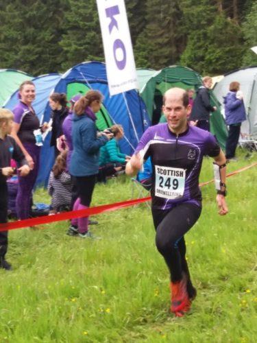 Mehmet on the relay run in