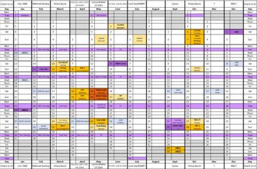 Orienteering Calendar