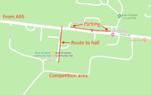 Loch Vaa Parking Map