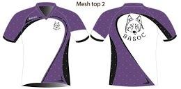 White design, all mesh with V neck