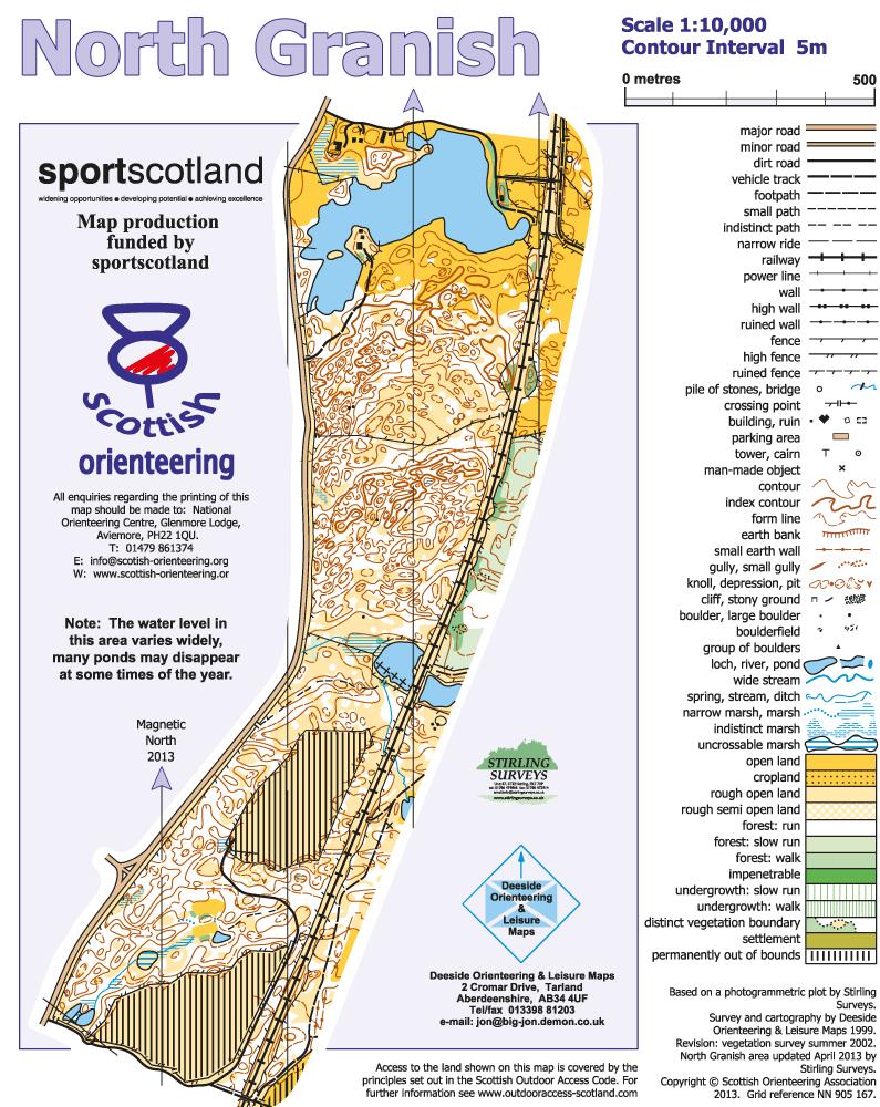 North Granish Map Badenoch And Strathspey Orienteering Club