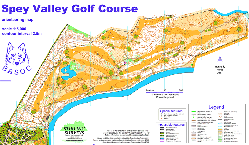 Spey Valley Golf Course map - Badenoch and Strathspey ... on scottish national parks map, scotland map, scottish airports map,
