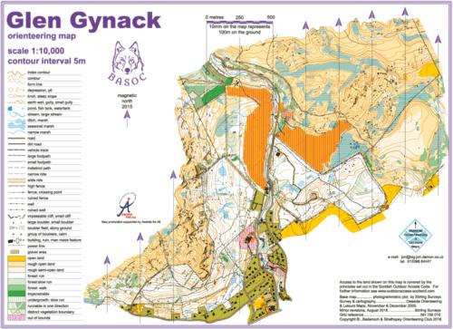Glen Gynack Map
